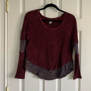 Thermal 2 toned Free People Shirt
